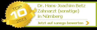Dr. med. dent. Hans-Joachim Betz, von sanego empfohlen
